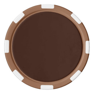 Deep Rich Brown color background Customizable Poker Chips