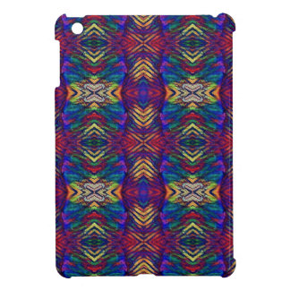 Deep Rich Fall Blues Purple Tribal Pattern iPad Mini Case