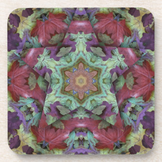 Deep Rich Fall Color 3d Star Drink Coasters