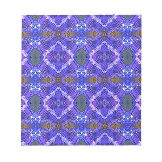 Deep Rich Purple Blue Fractal Tribal Pattern Notepads