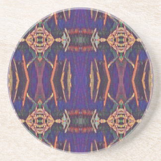 Deep Rich Purple Tribal Pattern Coaster