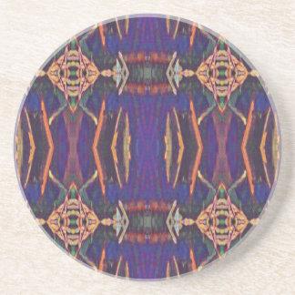 Deep Rich Purple Tribal Pattern Coasters