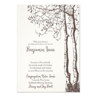 Deep Roots Jewish Wedding Invitation