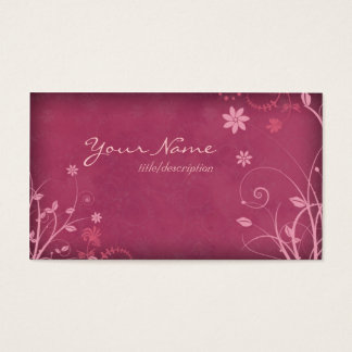 Deep Rose Pink Profile Business Card Template