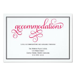 Deep Rose Pink Wedding Accommodations Card 9 Cm X 13 Cm Invitation Card