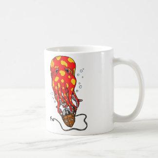 Deep Sea Ballooning Basic White Mug
