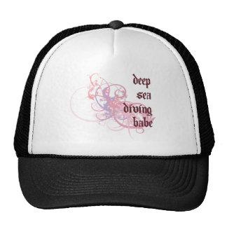 Deep Sea Diving Babe Hats