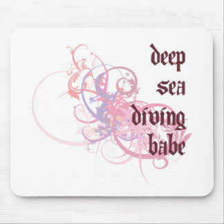 Deep Sea Diving Babe Mouse Mats