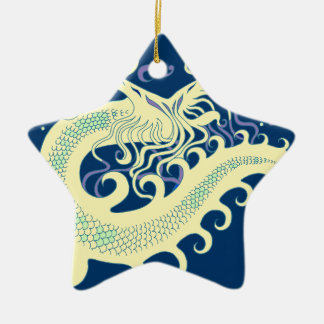 Deep Sea Dragon (Cool Green & Blue) ornaments