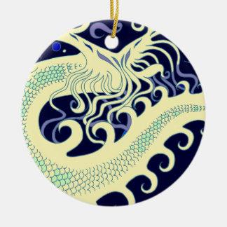 Deep Sea Dragon ornaments (Cool Green & Blue)