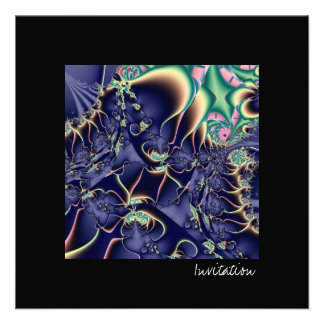 Deep Sea III · Fractal Art · Blue Announcements