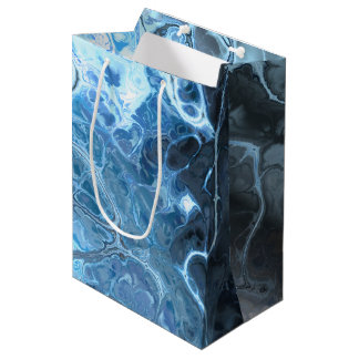 Deep Sea Inspired Underwater Fractal Style Design Medium Gift Bag