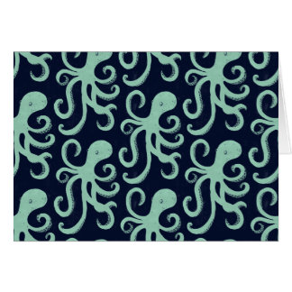 Deep Sea Octopus Card