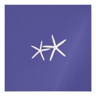 Deep Sea, Square Starfish Wedding Invitation