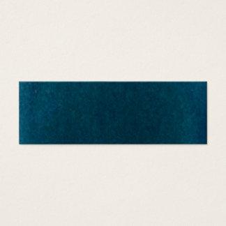 Deep Sea Watercolor - Dark Teal Blue and Aqua Mini Business Card