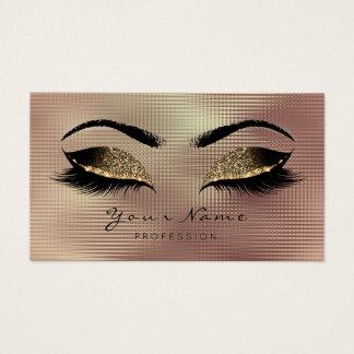 Deep Sepia Glitter Makeup Artist Lash Black Rose Business Card