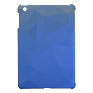 Deep Sky Blue Abstract Low Polygon Background iPad Mini Cover