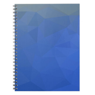 Deep Sky Blue Abstract Low Polygon Background Notebooks