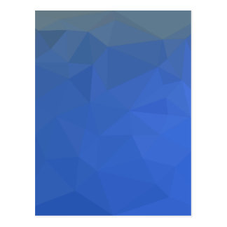 Deep Sky Blue Abstract Low Polygon Background Postcard