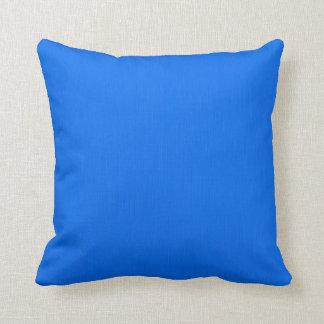 Deep Sky Blue Background Pillow