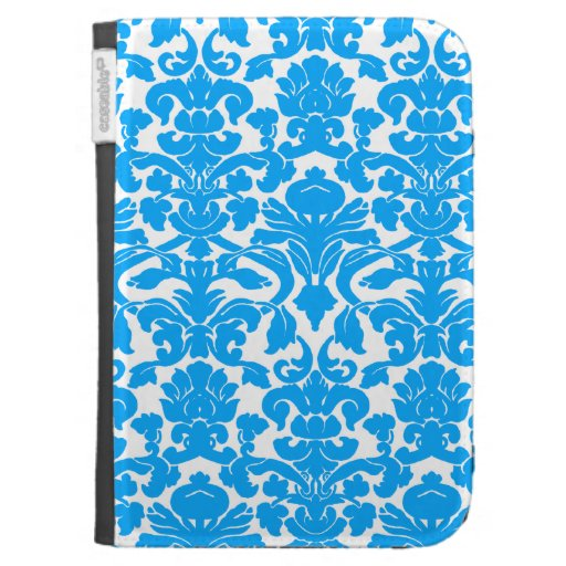 Deep Sky Blue Damask Kindle 3G Covers