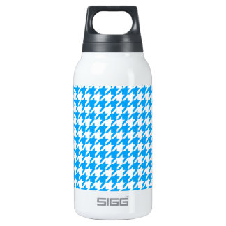 Deep Sky Blue Houndstooth 0.3L Insulated SIGG Thermos Water Bottle