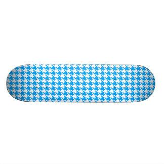 Deep Sky Blue Houndstooth 18.1 Cm Old School Skateboard Deck