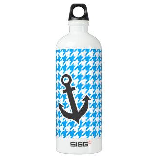 Deep Sky Blue Houndstooth; Anchor SIGG Traveller 1.0L Water Bottle