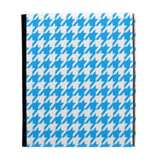 Deep Sky Blue Houndstooth iPad Folio Cover