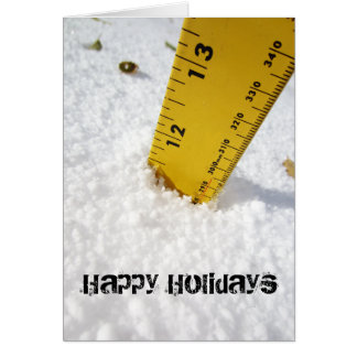 Deep Snow with Tape Measure Holiday Card