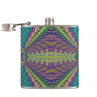 Deep Sound Crochet Look Hip Flask