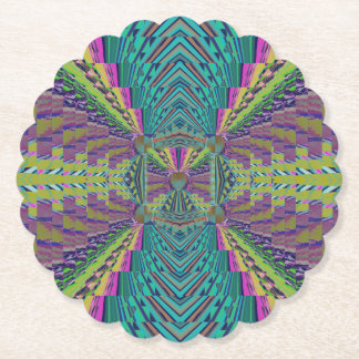 Deep Sound Crochet Look Paper Coaster