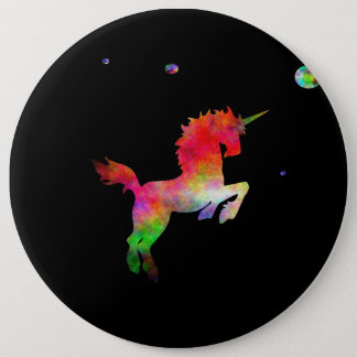 Deep Space Multi-hued Unicorn 6 Cm Round Badge