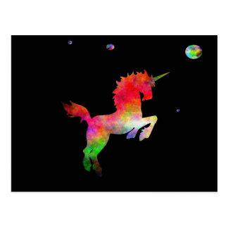 Deep Space Multi-hued Unicorn Postcard