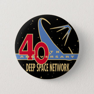 DEEP SPACE NETWORK 40th Anniversary 6 Cm Round Badge