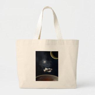 Deep Space - Science Fiction Battle Cruiser Tote Bag