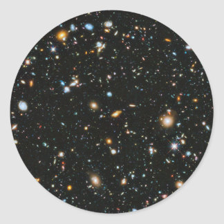Deep Space Stars and Galaxies Classic Round Sticker