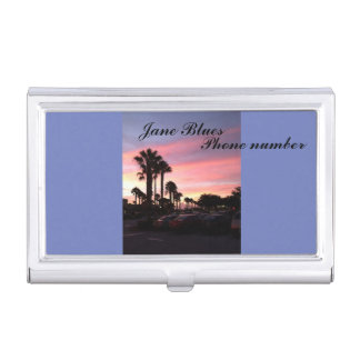 deep sunset photo on business card box by bbillips business card case