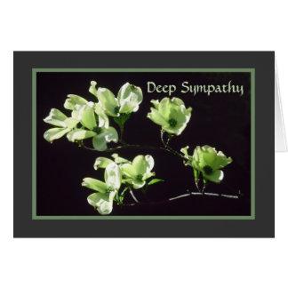 Deep Sympathy Card Dogwood Blooms