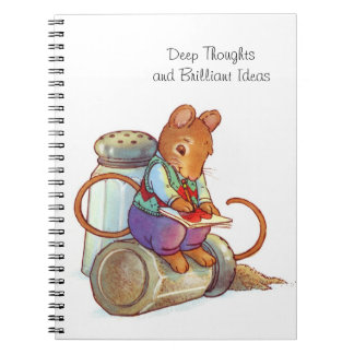 Deep Thoughts Writer Mouse Nifty Notebook