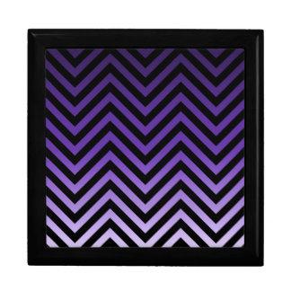 Deep to Light Purple Ombre Chevron Gift Box