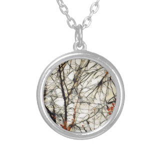 Deep Tree Silver Plated Necklace