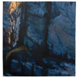 deep vertical cracks in rock napkin