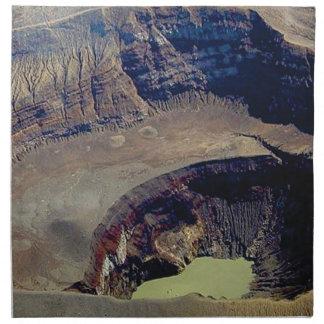 deep volcanic crater napkin