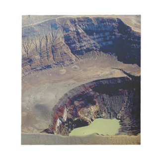 deep volcanic crater notepad