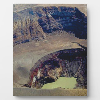 deep volcanic crater plaque