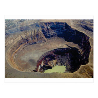 deep volcanic crater postcard