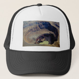 deep volcanic crater trucker hat