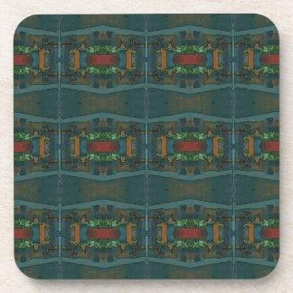 Deep Warm Masculine Pattern Drink Coasters