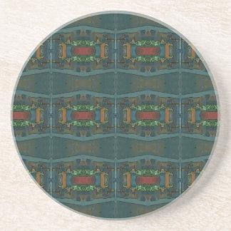 Deep Warm Masculine Pattern Sandstone Coaster